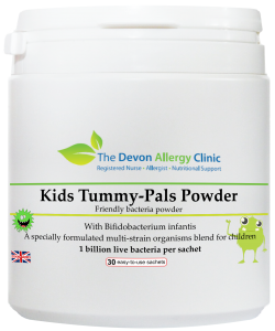 Kids Tummy-Pals Powder, available from the Devon Allergy Clinic store